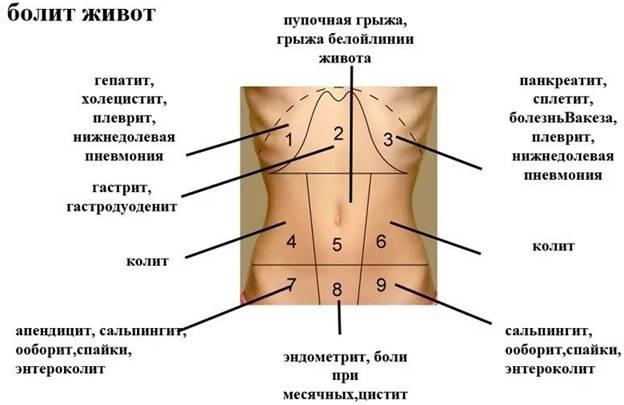 при месячных болит справа